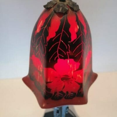 Lampe Art Deco pâte de verre brocante castres antiquités brocante en ligne du Tarn