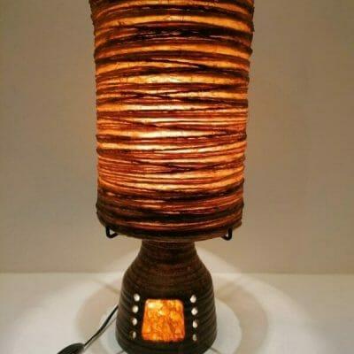 Lampe Accolay vintage design Georges Pelletier 1960/70 allumée | brocante en ligne